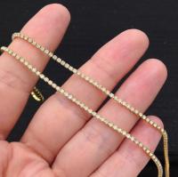 1,5мм Стразовая Цепь Южная Корея, цвет белый OPAL;золото