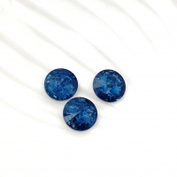 Кристалл Риволи 10мм FROST Denim Blue