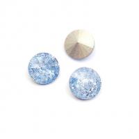 Кристалл Риволи 10мм FROST Light Sapphire