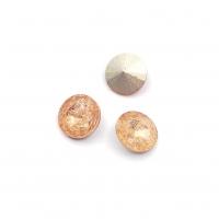 Кристалл Риволи 10мм FROST Light Peach