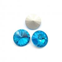 Кристалл Риволи 12мм Blue Zircone