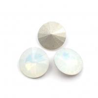 Кристалл Риволи 14мм White Opal