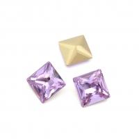 Кристалл Квадрат 10мм Violet