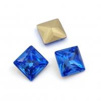 Кристалл Квадрат 10мм Sapphire