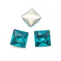 Кристалл Квадрат 10мм Blue Zircone