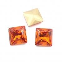 Кристалл Квадрат 12мм Orange