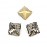 Кристалл Квадрат 12мм Black Diamond