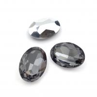 Кристалл Овал 18*13мм Hematite