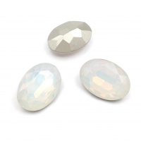 Кристалл Овал 18*13мм White Opal