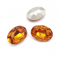 Кристалл Овал 18*13мм Orange