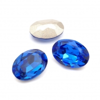 Кристалл Овал 18*13мм Sapphire