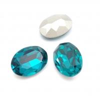 Кристалл Овал 18*13мм Blue Zircon