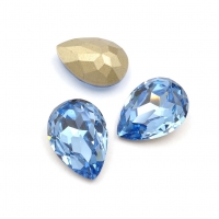 Кристалл Капля 13*18мм Light Sapphire