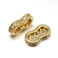 Разделитель тонкий на 2 нити, цвет золото
