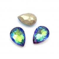 Кристалл Капля 14*10мм Emerald+Sapphire