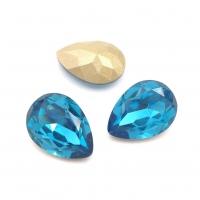 Кристалл Капля 14*10мм Blue Zircone