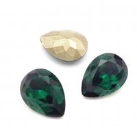 Кристалл Капля 14*10мм Emerald