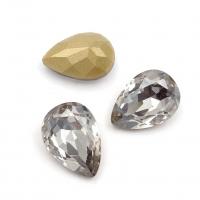 Кристалл Капля 14*10мм Silver Shade