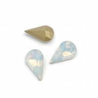 Кристалл Капля 6*10мм White Opal