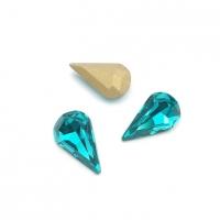 Кристалл Капля 6*10мм Turquoise