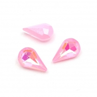 Кристалл Капля 8*13мм Pink DL