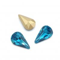 Кристалл Капля 8*13мм Blue Zircone