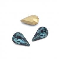 Кристалл Капля 8*13мм Denim Blue
