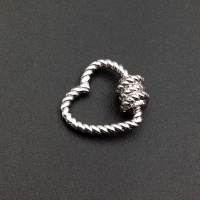 Стразовая цепь,  размер 2.1мм;Light ROSE; серебро - 50 см
