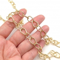 Стразовая цепь,  размер 2.1мм; Sapphire ; серебро - 50 см