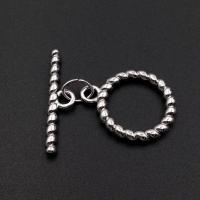 Тогл Крупный витое кольцо; 31*29мм; родий