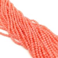 Коралл Лососевый,  шар гладкий 2мм, полная нить=149 бусин