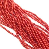 Коралл Красный, шар гладкий 2мм, полная нить=149 бусин