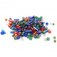 10 грамм -Бисер TOHO MIX № 3226 зелёно-фиолетовый-красный