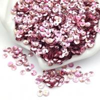 Пайетки Италия; Чаша 4мм; цвет Розовый радужный (3075)