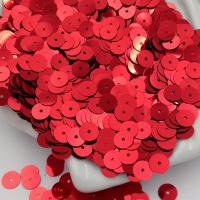 Пайетки Италия; Плоские, 6мм; цвет Красный металлиззати (4061)