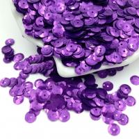 Пайетки Италия; Чаша 6мм; цвет Виола металл (5389)