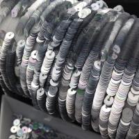 Пайетки Италия; плоские 3мм; Серебро АВ metall (1115)