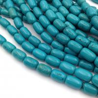Бусина Рис 5*9мм, Зелёный халцедон - 20 бусин
