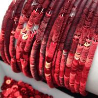 Пайетки Италия; плоские 3мм; Красный metallizzati (4061)