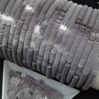 Пайетки Италия; плоские 4мм; глянец Серый Дымчатый (9004)