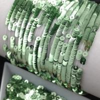 Пайетки Италия; плоские 4мм; Светло-Зелёный metallizzati (7021); 3 грамма