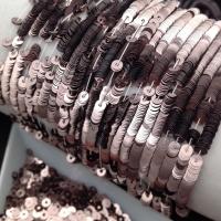 Пайетки Италия; плоские 4мм; Бежево-Розовый metallizzati (9081); 3 грамма