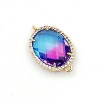 Коннектор многоцветное ювелирное стекло; цвет золото