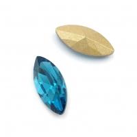 Кристалл Лодочка 15*7мм Blue Zircon