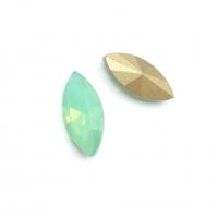 Кристалл Лодочка 15*7мм Chrysolite Opal