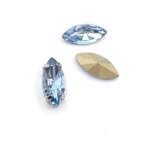 Кристалл Лодочка 15*7мм Light Sapphire