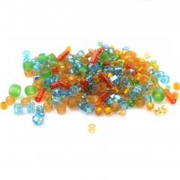 10 грамм -Бисер TOHO MIX № 3228 оранжево-зелёный-голубой