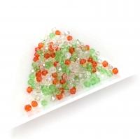Хрустальные бусины МИКС 4 цвета Биконус 3.1мм; 200 бусин в тубе