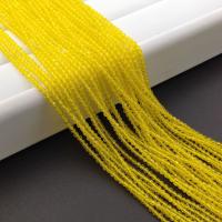 Фианит ювелирной огранки шар 2мм, цвет ярко Жёлтый