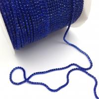 Стразовая цепь 2мм Сапфир №106, оправа в цвет, 1 метр